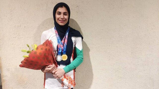 مدال طلای محیا دارابیان در ماده سرعت قهرمانی بانوان آسیا