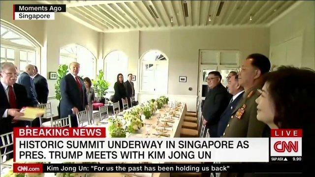ترامپ و کیم جونگ اون پیش از گفت وگو شام می خورند